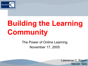 Building the Learning Community