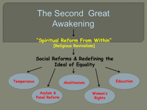Second Great Awakening & Reform