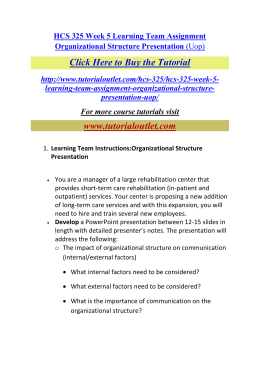 hcs 325 organizational structure powerpoint presentation