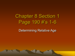 Chapter 8 Section 1 #'s 1-6