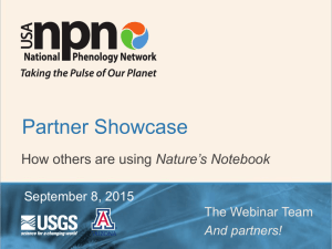 Title of Presentation - USA National Phenology Network