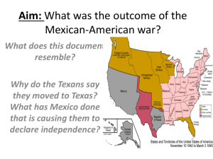Aim: What was the outcome of the Mexican