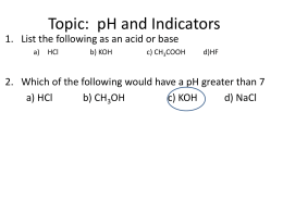 Topic: Indicators