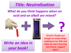 Neutralisation - Science @ St John's
