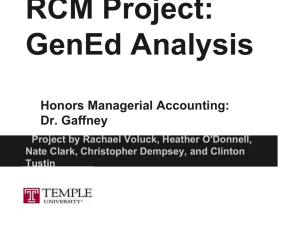 RCM Project - Temple Fox MIS