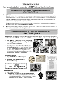 1964 Civil Rights Act 1.5 Essay Outline 2013
