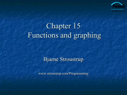 Ch15: Graphing Functions and Data