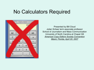 07 - No Calculators Required - Presentation