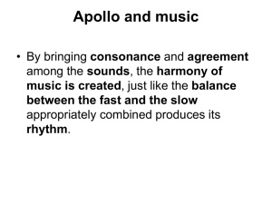 Apollo, music and lyre