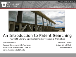 ML Patent Searching Workshop Aug2013