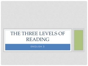 The Three Levels of Reading