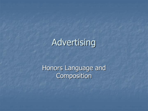 Advertising - HyattLangandCompHonors
