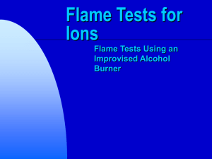 Flame Tests for Ions