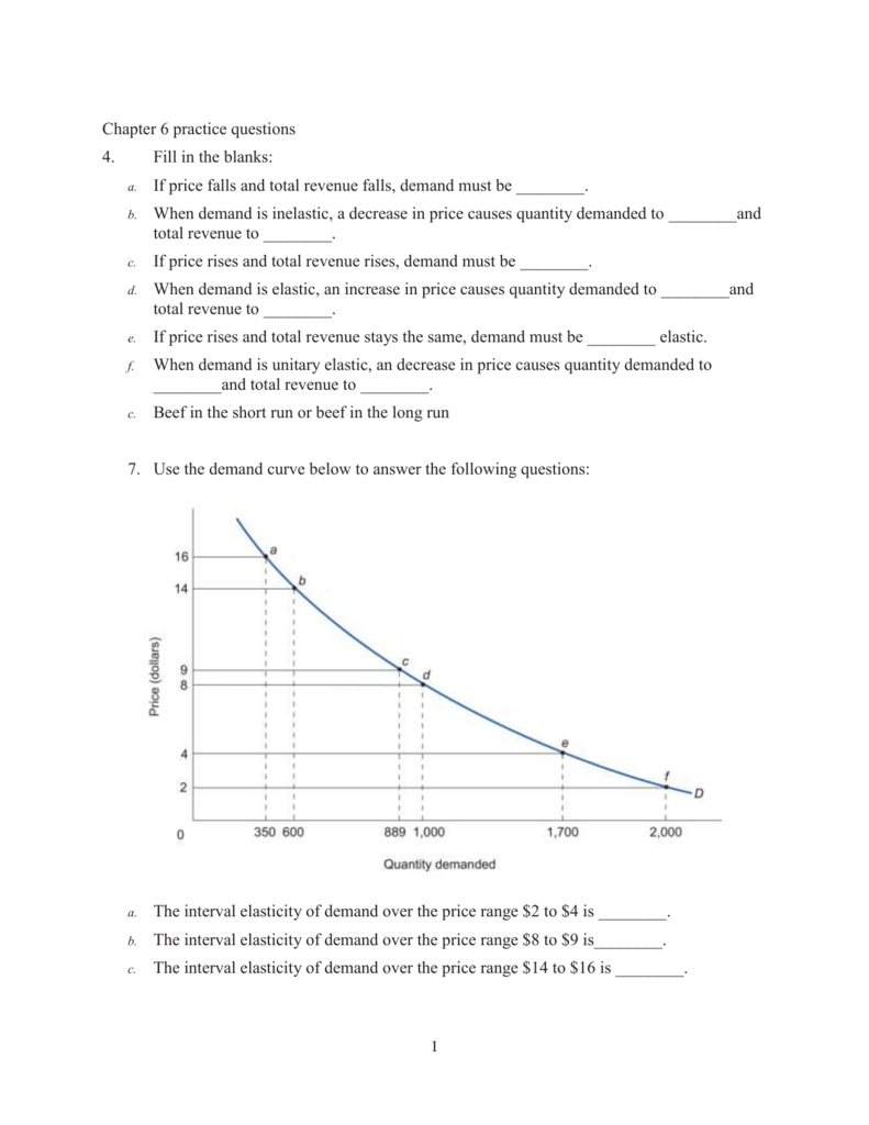 Example Questions And Answers From Class