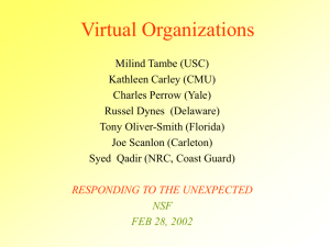 Virtual Organizations - Information Sciences Institute