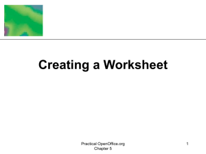 Chapter 5: Creating a Worksheet