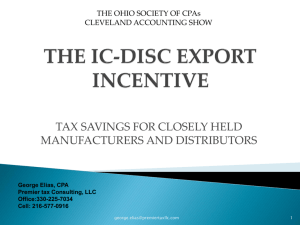 the ic-disc export incentive