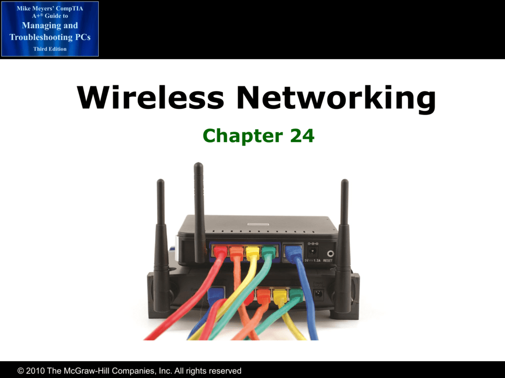 Chapter 24 Wireless Networking