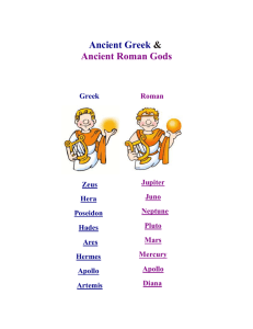 List of Greek and Roman Gods and Goddesses