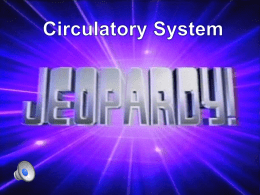 Circulatory Jeopardy Review Game