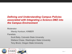 Defining and Understanding Campus Policies associated