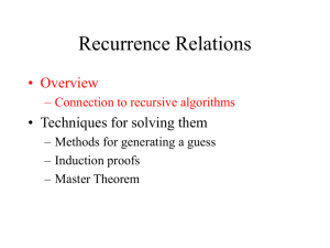 Recurrence relations, lecture 2