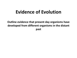 describe, using specific examples, how the theory of evolution is
