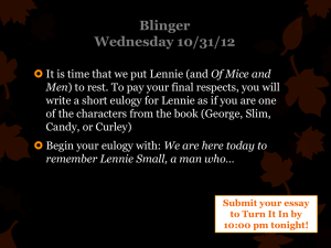 Blinger Wednesday 10/31/12