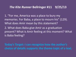 the kite runner envelope activity the kite runner bellringer 11 9 25 13