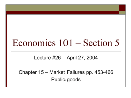 Economics 101 – Section 5