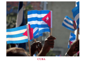 Cuba Overview - CLIO History Journal
