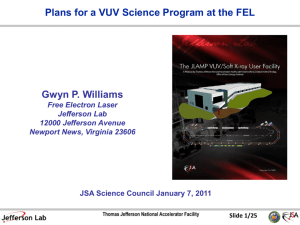 VUV Science - Jefferson Lab