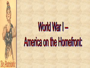 Homefront during WWI (W3 and W4)