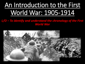 An Introduction to the First World War