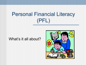 Personal Financial Literacy - Public Schools of North Carolina