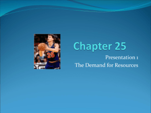 Ch 25 presentation 1Derived Demand (Micro chapter 25