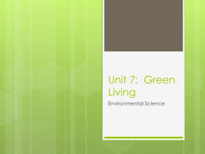Unit 7: Green Living