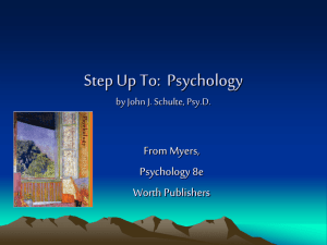 Step Up To: Psychology