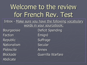 Review: French Revolution