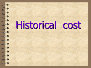 Historical cost