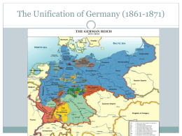 12. Unification of Germany