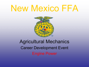 Engine Identification - New Mexico Agricultural Education FFA