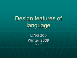 Design features of language