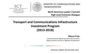 Mexico's Priorities on Infrastructure and Transportation