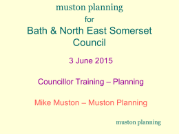 Probity in Planning - Bath & North East Somerset Council