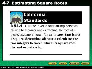 Ch 4-7 Estimating Square Roots