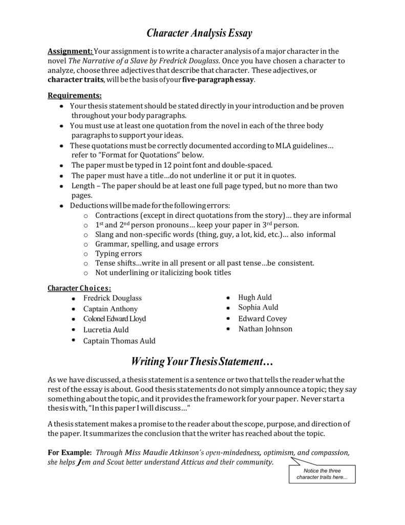 Research Paper Essay Example  Comparison Contrast Essay Example Paper also Analytical Essay Thesis Example Character Analysis Essay Help  How To Write A Character  Thesis Statement Argumentative Essay