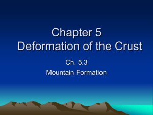 5.3 Mountain Formation notes