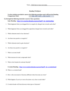 Come Together: Chemical Bonding Worksheet