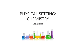 PHYSICAL SETTING: CHEMISTRY